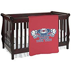 Strong Dawson Eagle Personalized Red Baby Blanket (Double Sided)