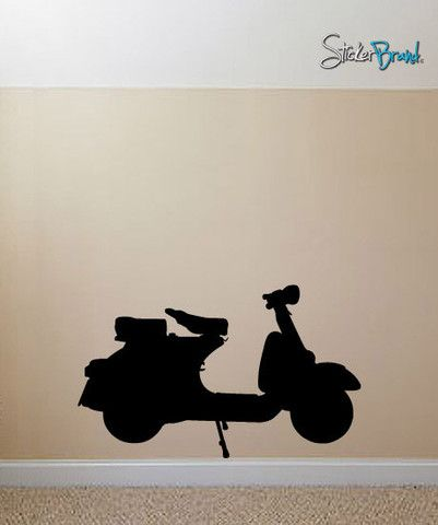 Vinyl Wall Decal Sticker Vespa Moped Scooter #549