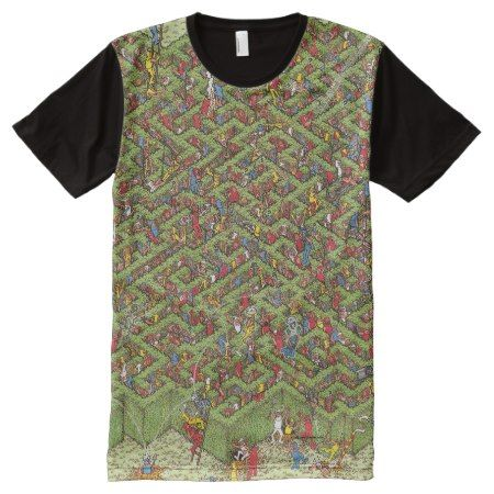 Where's Waldo Great Escape All-Over-Print Shirt - tap, personalize, buy right now!