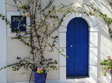 Blue Arch Door Entrance - they have tied in the blue front door colour with the & 46 best PaintRight Colac Door Colours images on Pinterest Pezcame.Com