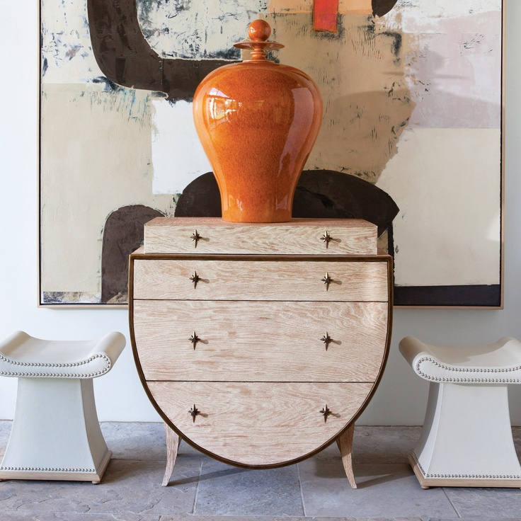 Home   Bedrooms   Decor   Global Views Klismos Chest   Love This As A  Bedside