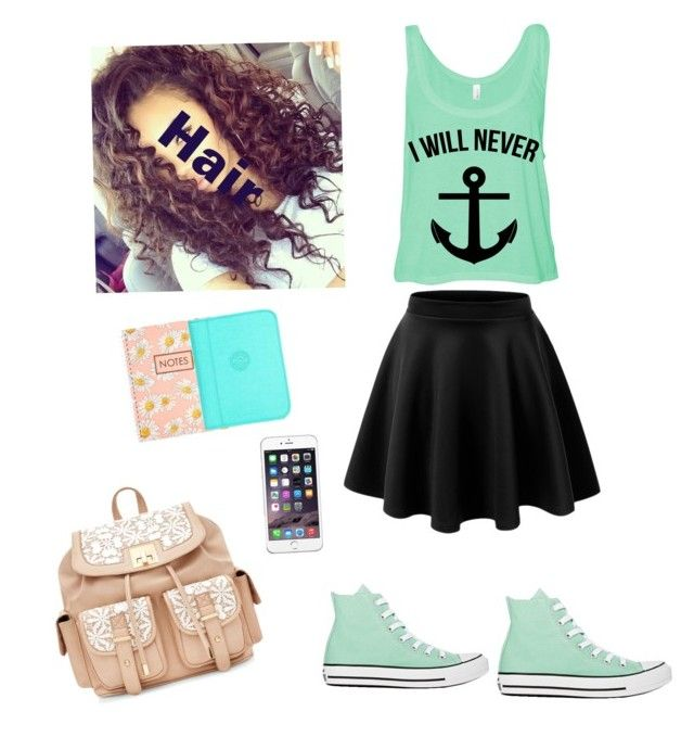 First day of middle school by alecookiezz on Polyvore featuring Converse