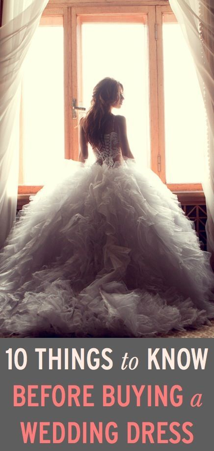 What to know before buying a wedding dress.