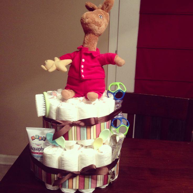 Llama Diaper Cake For A Baby Shower Llama Baby Shower