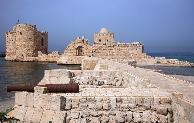 Sidon or Saida, Lebanon - the remains of an old Templar castle