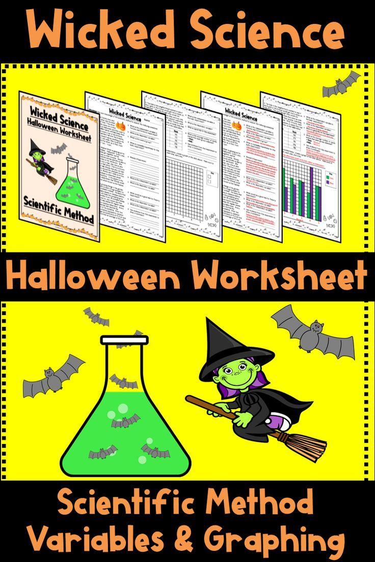 Adorable Halloween Themed Scientific Method Worksheet Practice Independent And Dependent Vari Scientific Method Halloween Science Scientific Method Worksheet