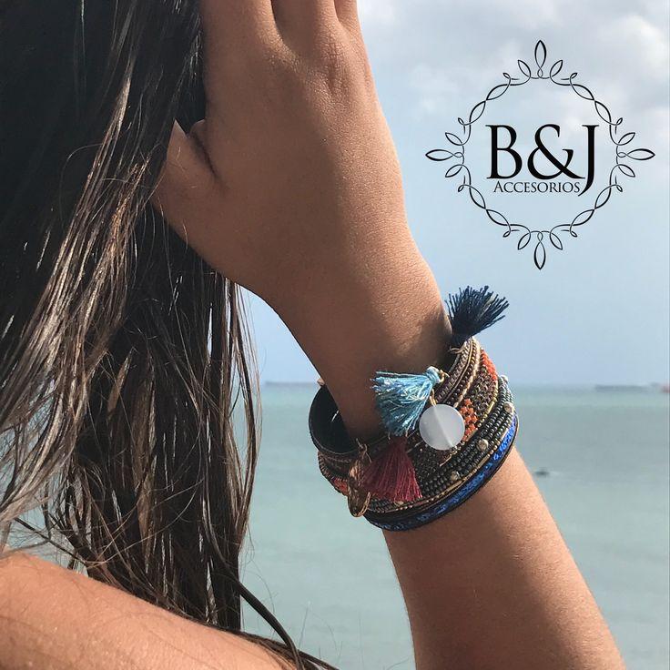 Manilla azul B&J #pulseras #b&jaccesorios #moda #accesorios