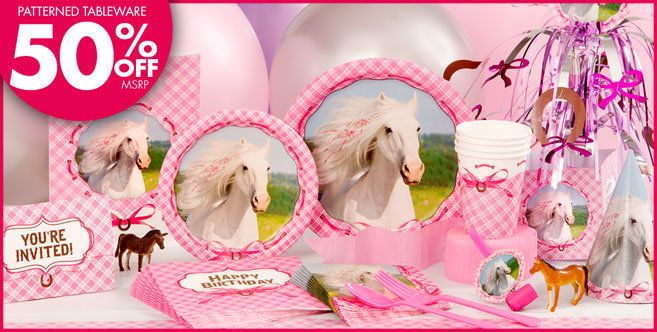 Heart My Horse Party Supplies - Balloons, Decorations, Party Favors, Tableware & More - Party City