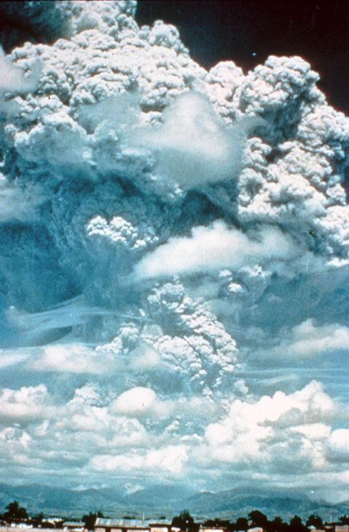 """Previous pinner: """"Volcanic Eruption"""" -- Me: """"View of June 12, 1991, Eruption Cloud...from Clark Air Base [Philippines] of the first major eruption of [Mount] Pinatubo..."""" -- Many more photos of the event at the click through."""