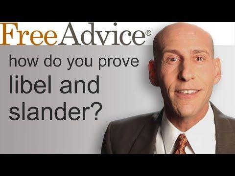 How Do You Prove Libel and Slander? - YouTube