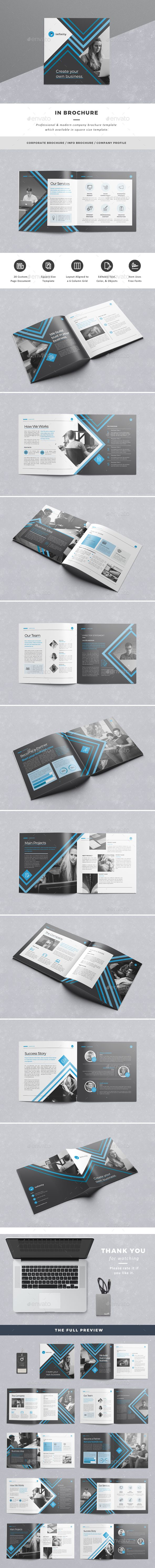 Brochure — InDesign INDD #agency #company profile • Available here → https://graphicriver.net/item/in-brochure/16329033?ref=pxcr