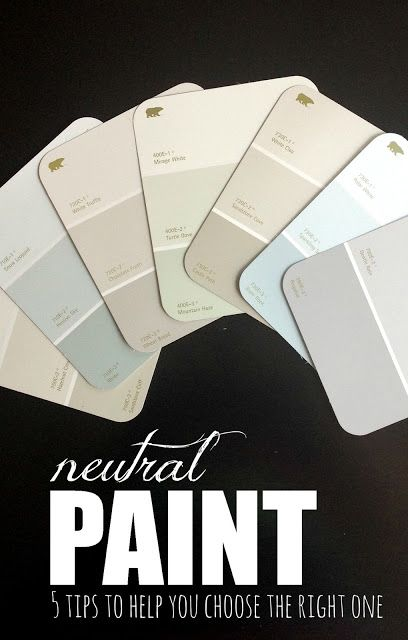 5 tips to help you choose the best neutral paint colors! Check this out!
