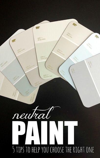 5 consejos para ayudarle a elegir los mejores colores de la pintura neutral! Miren esto!