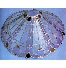 Artesanías en Vidrio y Cristal: Pantalla de vidrio emplomado tipo vitraux.