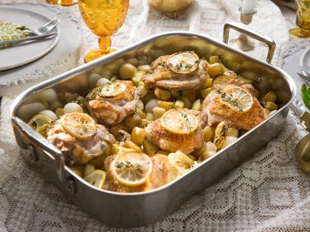Get One-Pan Roast Chicken with Vegetables Recipe by Tia Mowry from Cooking Channel