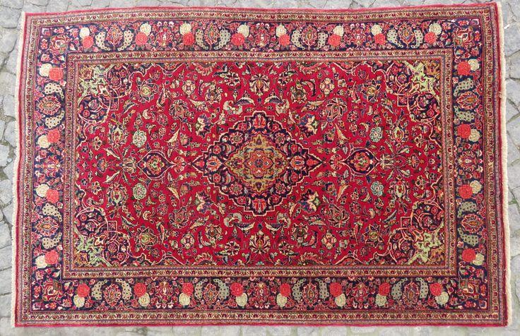 kashan antique rug