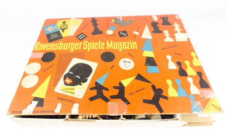 1950s Board Game Ravensburger Spiele Magazin Made In Germany by BoneJackVintageDecor on Etsy
