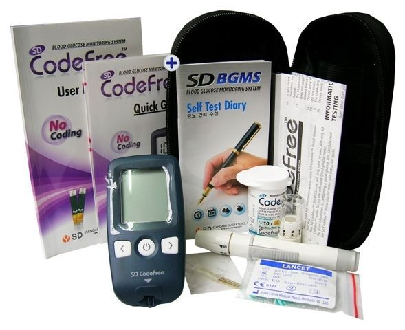 Other Medical Monitoring: Sd Codefree Blood Sugar Meter (Mmol L) Glucose Monitor Starter Kit - Vat Free -> BUY IT NOW ONLY: $28.79 on eBay!
