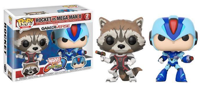 Funko POP Games Marvel vs Capcom 2-Piece Set Rocket Raccoon vs MegaMan PREORDER