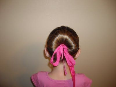 Ribbon Rolled Ballet BunDance Hairstyles For Girls, Easy Hairstyles, Buns Hairstyles, Ballet Hair, Ballet Buns, Cinderella Hairstyles, Hair Buns, Princesses Hairstyles, Girls Hair