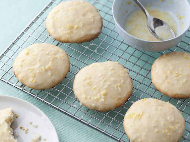 Lemon Ricotta Cookies with Lemon Glaze : Giada De Laurentiis adds a citrus zip to these tender ricotta cookies by mixing fresh lemon zest into the dough and the sweet glaze.