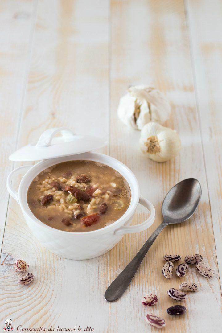 Zuppa di riso e fagioli