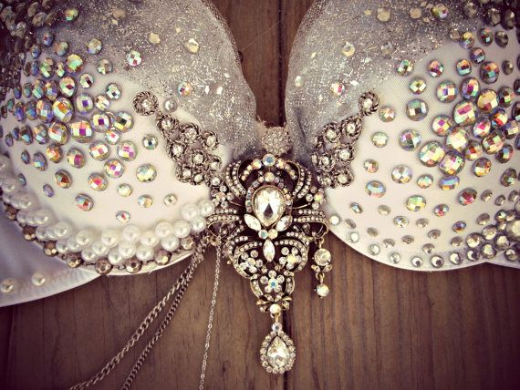 Showstopper Fantasy Rave Bra by TheLoveShackk on Etsy