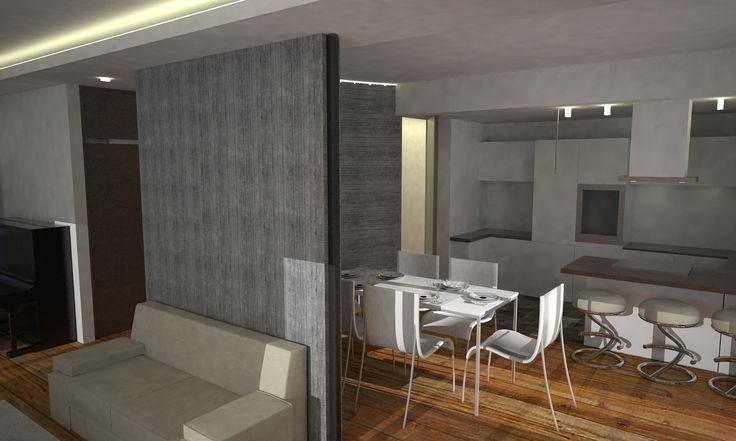 appartamento a chieti: cucina e sala da pranzo