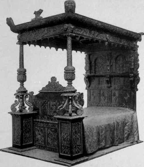 Oak-Bedstead-late-sixteenth-century