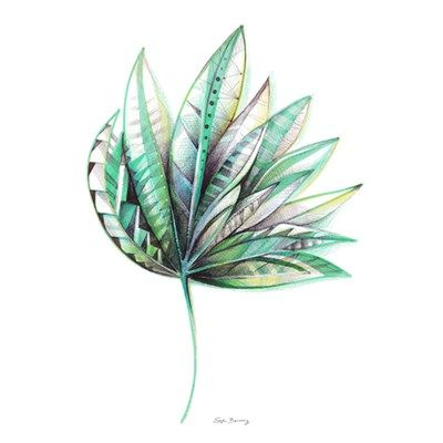 Sofie Børsting Palm Leaf A4 Illustration, ny vare til den nye designbutik, Tinga Tango