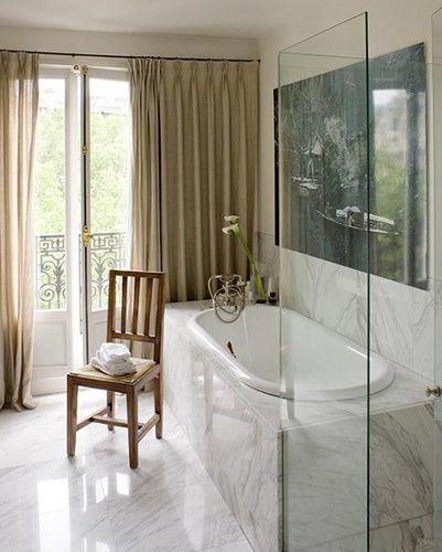 Ina Garten S Paris Apartment Architect Lia Kiladis Via Boxwood Terrace Bathrooms Bathroom Diy Decor Apartments