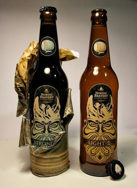 Nordic Bravery Beer (Concept) on Packaging of the World - Creative Package Design Gallery