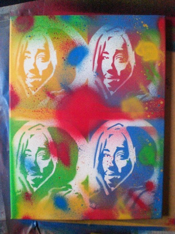 Hey, I found this really awesome Etsy listing at https://www.etsy.com/listing/46644735/tupac-v-warhol-painting-on-canvaspop