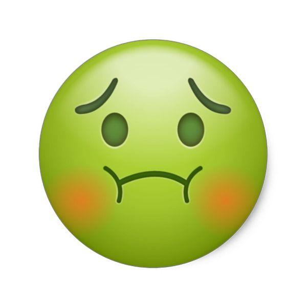 Sick Note Emoji Face Classic Round Sticker Zazzle Com In 2021 Emoji Faces Sick Emoji Emoji Drawing