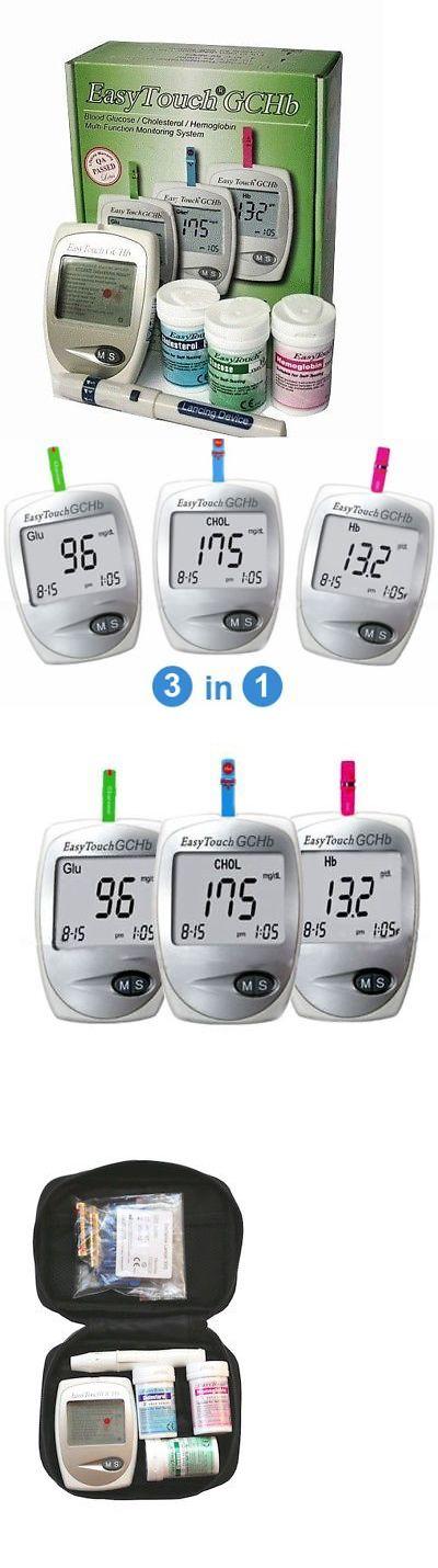 Glucose Monitors: Blood Sugar Glucose Cholesterol Hemoglobin Starter Kit Gluco Meter 3In1 Monitor -> BUY IT NOW ONLY: $48.95 on eBay!
