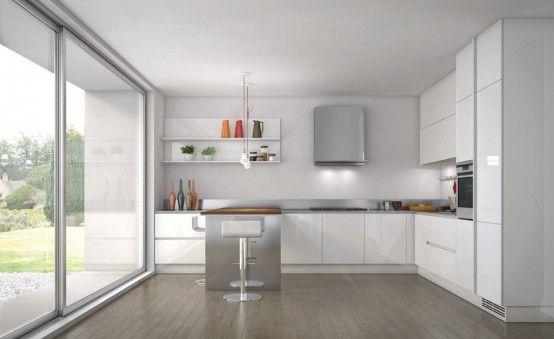 Simple and Sleek Kitchen Design – Emetrica by Ernestomeda   DigsDigs
