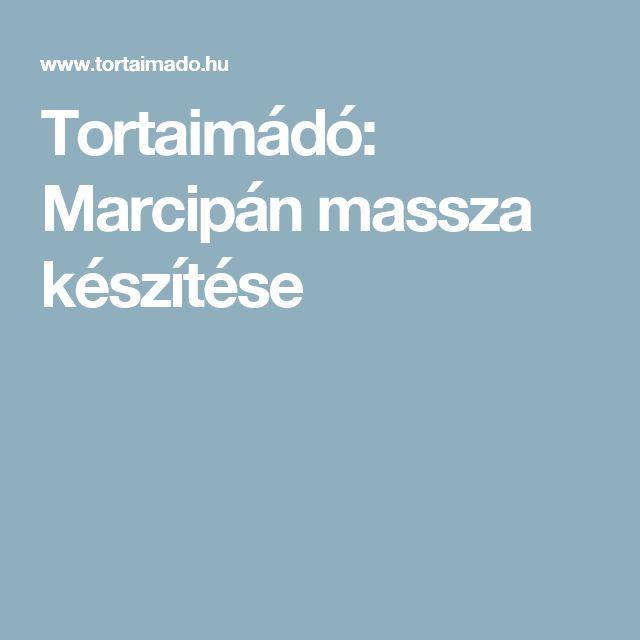 Tortaimádó: Marcipán massza készítése