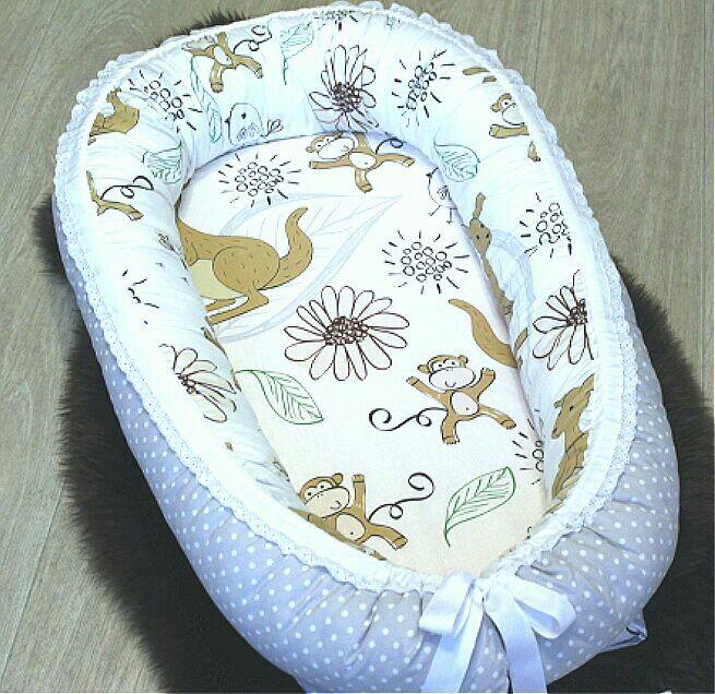 babynest, кокон для младенцев  Размер внутри 30х65,100%хлопок ~3000р