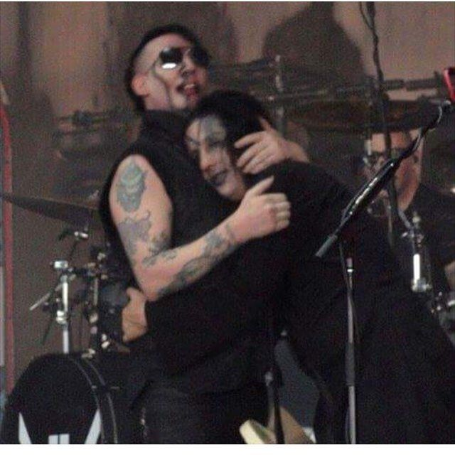 bromance Marilyn Manson and Twiggy