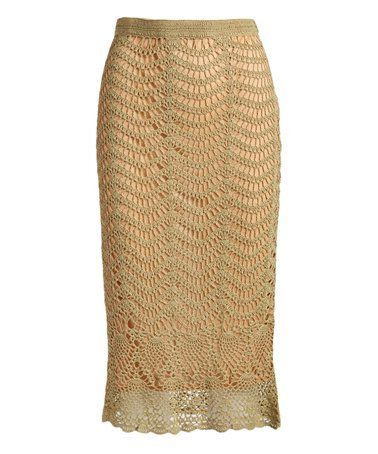 Love this Khaki Lace Trumpet Skirt on #zulily! #zulilyfinds