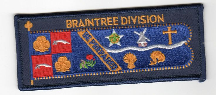 Girl Guides BRAINTREE DIVISION GUIDES Country Standard Crest UK Patch New Scouts