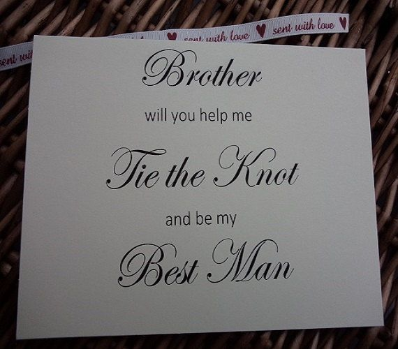 Best man Will You Be My Bestman Card by WeddingCreationsShop