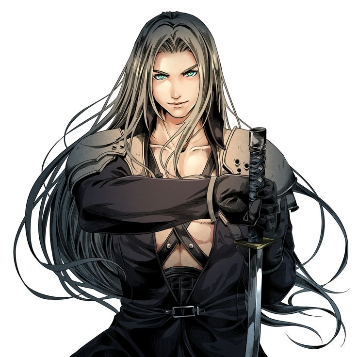 Sephiroth <----- why are the bad guys always cooler than the good guys?! It's not fair...
