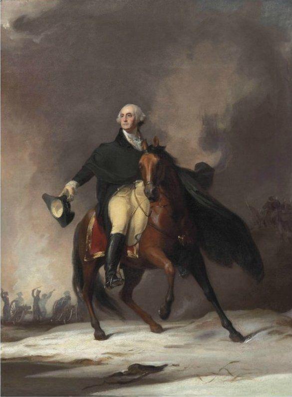 The Athenaeum - SULLY, Thomas English-born American (1783-1872)_Portrait of General George Washington - 1842