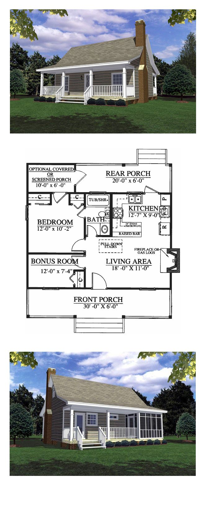 16 best images about country house plans on pinterest traditional rocking chairs and house plans - Cool cottage plans ...