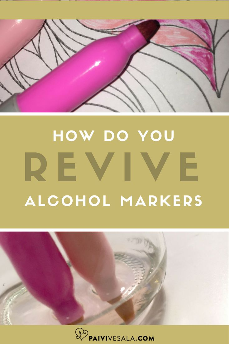 When an alcohol marker has dried out, it is by no means to be thrown into the trash! There is usually still ink in it, only the solvent has dried. You can make a dried out alcohol marker fully usable with this simple little trick.
