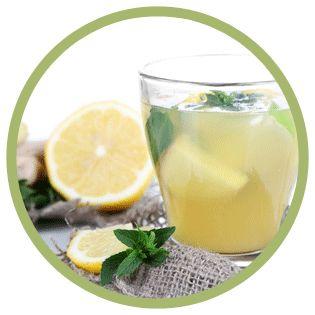 tisana con tè verde, zenzero e limone