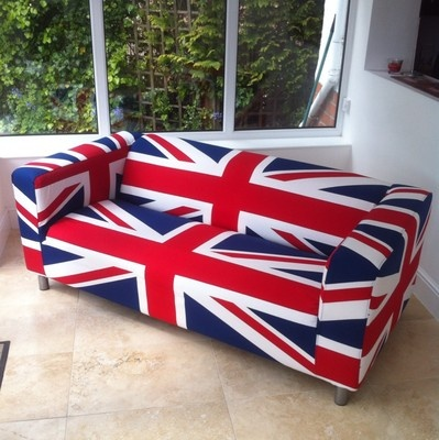 Ikea klippan sofa limited edition union jack cover for Funda sofa exterior