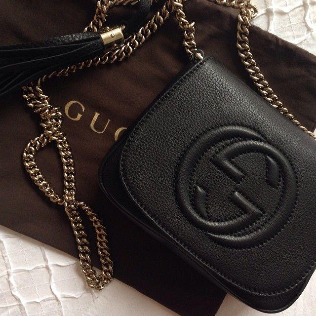 Intense Soho Bag de Gucci à shopper sur Leasy Luxe www.leasyluxe.com #deep #blackdesign #leasyluxe