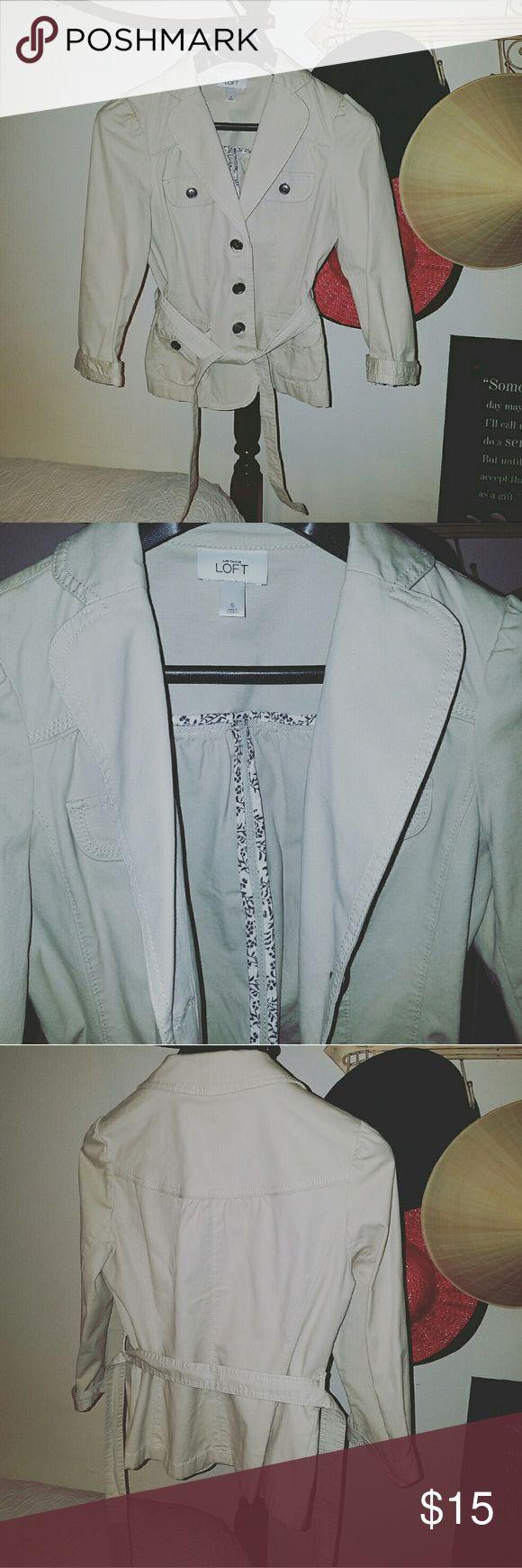Beige jacket Ann Taylor LOFT Ann Taylor Jackets & Coats